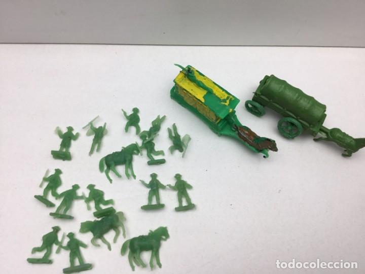 Figuras de Goma y PVC: LOTE FIGURAS DE GOMA - FOTOKEKI - MONTAPLEX - DILIGENCIA WELLSS - FARGO - AÑOS 70 - Foto 5 - 172270342