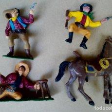 Figuras de Goma y PVC: FIGURA VAQUEROS COWBOY COMANSI PRIMERA ÉPOCA OESTE WESTERN GRAN CAÑÓN COLORADO COMANSI ANTIGUO. Lote 172313230