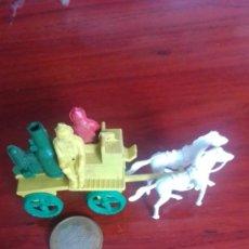 Figuras de Goma y PVC: CARRETA DEL OESTE COCHE BOMBEROS MONTAPLEX O SIMILAR. Lote 172352812