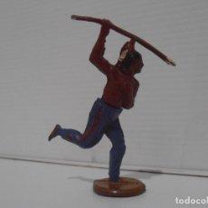 Figuras de Goma y PVC: INDIO CON LANZA, CUERPO DESMONTABLE, GAMA. Lote 172363387