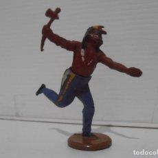 Figuras de Goma y PVC: INDIO CON HACHA, CUERPO DESMONTABLE, GAMA. Lote 172363432