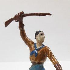 Figuras de Goma y PVC: VAQUERO - COWBOY . REALIZADO POR AL - CA / CAPELL . AÑOS 50 EN GOMA. Lote 172564000