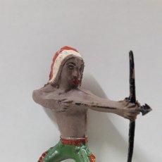 Figuras de Goma y PVC: GUERRERO INDIO PARA CABALLO . REALIZADO POR AL - CA / CAPELL . AÑOS 50 EN GOMA. Lote 172564585