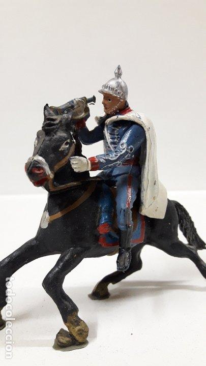 Figuras de Goma y PVC: ESCOLTA DEL GENERALISIMO CON TROMPETA . REALIZADO POR TEIXIDO . AÑOS 50 EN GOMA - Foto 4 - 172644630
