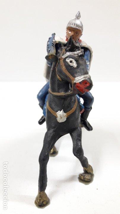 Figuras de Goma y PVC: ESCOLTA DEL GENERALISIMO CON TROMPETA . REALIZADO POR TEIXIDO . AÑOS 50 EN GOMA - Foto 7 - 172644630
