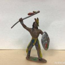Figuras de Goma y PVC: FIGURA JEFE INDIO COMANSI OESTE WESTERN NO PECH LAFREDO REAMSA JECSAN. Lote 172730877