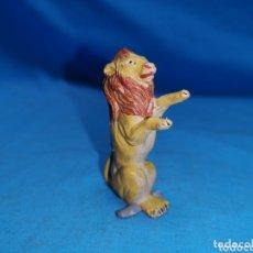 Figuras de Goma y PVC: LEÓN DE CIRCO JECSAN EN GOMA AÑOS 60. Lote 172850200