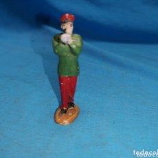 Figuras de Goma y PVC: MÚSICO DE TROMPETA DE CIRCO JECSAN EN GOMA AÑOS 60. Lote 172851210
