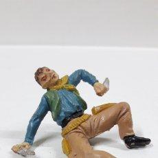 Figuras de Goma y PVC: VAQUERO - COWBOY . REALIZADO POR JECSAN . AÑOS 50 EN GOMA. Lote 172874942