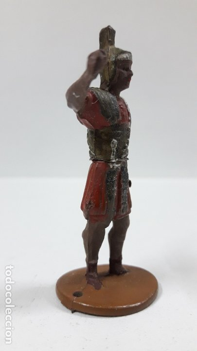 Figuras de Goma y PVC: ROMANO . REALIZADO POR GAMA . SERIE ROMA Y GLADIADORES . AÑOS 50 EN GOMA - Foto 4 - 172875744