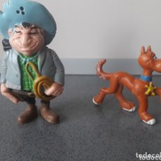 Figuras de Goma y PVC: HANK BULLY Y RANTAMPLAN LUCKY LUKE FIGURA PVC SCHLEICH GERMANY MORRIS DARGAUD KUTSCHER 1984. Lote 172955155