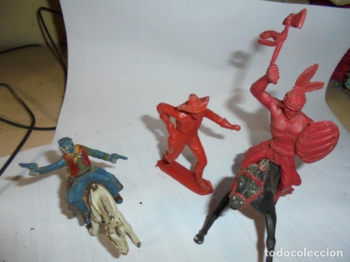 MAGNIFICAS 5 FIGURAS ANTIGUAS (Juguetes - Figuras de Goma y Pvc - Comansi y Novolinea)