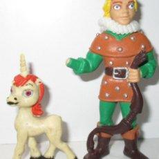 Figuras de Goma y PVC: HANK EL ARQUERO + UNI, FIGURAS PVC COMICS SPAIN 1985 DRAGONES Y MAZMORRAS DUNGEONS & DRAGONS. Lote 97161288