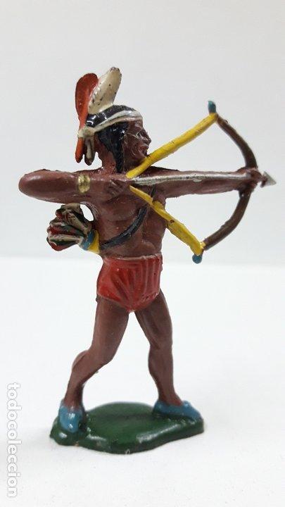 Figuras de Goma y PVC: GUERRERO INDIO CON ARCO . REALIZADO POR TEIXIDO . AÑOS 50 EN GOMA - Foto 3 - 173041518