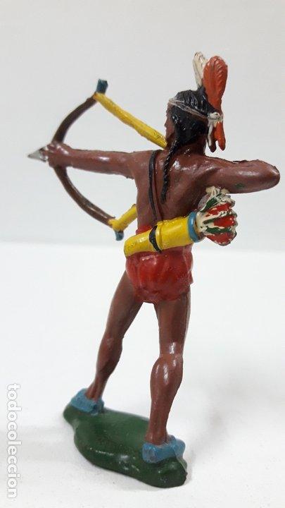 Figuras de Goma y PVC: GUERRERO INDIO CON ARCO . REALIZADO POR TEIXIDO . AÑOS 50 EN GOMA - Foto 4 - 173041518