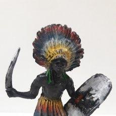 Figuras de Goma y PVC: GUERRERO AFRICANO KAKUANA . REALIZADO POR PECH . AÑOS 50 EN GOMA. Lote 173152679