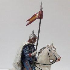 Figuras de Goma y PVC: ESCOLTA DEL GENERALISIMO LANCERO . REALIZADO POR TEIXIDO . AÑOS 50 EN GOMA. Lote 173158757