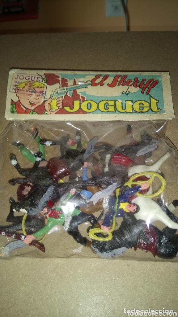 ANTIGUA BOLSA DE SOLDADOS. EL SHERIFF DE JOGUET. (Juguetes - Figuras de Goma y Pvc - Otras)