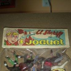 Figuras de Goma y PVC: ANTIGUA BOLSA DE SOLDADOS. EL SHERIFF DE JOGUET.. Lote 173182142