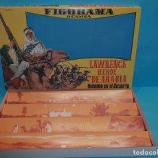 Figuras de Goma y PVC: CAJA FIGURAMA REAMSA - LAWRENCE DE ARABIA - REBELIÓN EN EL DESIERTO, AÑO 1962 (REPLICA). Lote 181184960