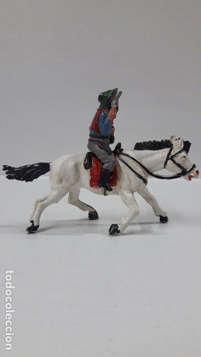 Figuras de Goma y PVC: VAQUERO BANDIDO A CABALLO . REALIZADO POR TEIXIDO . AÑOS 50 EN GOMA - Foto 5 - 173580157
