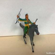 Figuras de Goma y PVC: FIGURA INDIO COMANSI OESTE WESTERN NO PECH LAFREDO REAMSA JECSAN. Lote 173609777