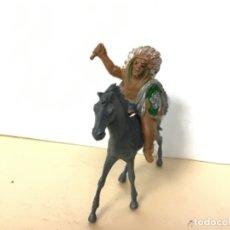 Figuras de Goma y PVC: FIGURA INDIO LAFREDO CON CABALLO OESTE WESTERN NO PECH JECSAN COMANSI REAMSA. Lote 173682678