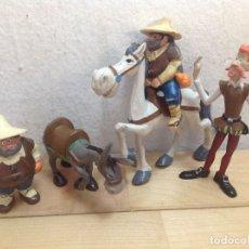 Figuras de Goma y PVC: 5 FIGURAS DE PVC - DON QUIJOTE DE LA MANCHA - COMICS SPAIN. Lote 173845609