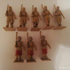 Figuras de Goma y PVC: 8 SOLDADOS TROPAS COLONIALES REAMSA FIGURAS MUY RAROS AÑOS 70 PLÁSTICO. Lote 173869763