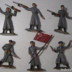 Figuras de Goma y PVC: LOTE 6 SOLDADOS EJERCITO RUSO DE COMANSI ORIGINALES DE LOS AÑOS 70. Lote 173874364