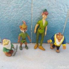 Figuras de Goma y PVC: FIGURAS PETER PAN, BESTIA, ROBIN HOOD, ENANITO. Lote 174042299