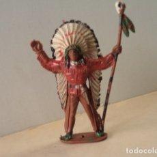 Figuras de Goma y PVC: FIGURA DE PLÁSTICO INDIO COMANSI. Lote 174149587