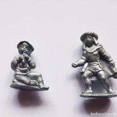 Figuras de Goma y PVC: PACK LOTE 2 FIGURAS (PASTOR+PAJE) BELÉN PREMIUM CONGUITOS, PLÁSTICO, DUNKIN O SIMILAR, AÑOS 70.. Lote 174169437