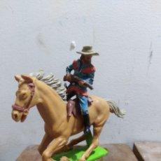 Figurines en Caoutchouc et PVC: FIGURA VAQUERO AMERICANO OESTE FART WEST DE BRITAIN'S DETAIL MADE I ENGLAND L 1971 . Lote 174401182