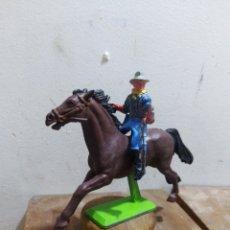 Figuras de Borracha e PVC: FIGURA VAQUERO AMERICANO OESTE FART WEST DE BRITAIN'S DETAIL MADE I ENGLAND L 1971 . Lote 174401233