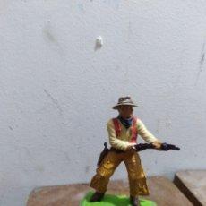 Figuras de Goma y PVC: FIGURA VAQUERO AMERICANO OESTE FART WEST DE BRITAIN'S DETAIL MADE I ENGLAND L 1971 . Lote 174401585