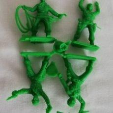 Figuras de Goma y PVC: COWBOYS TIPO MONTAPLEX. Lote 174437343