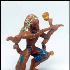 Figuras de Goma y PVC: JEFE INDIO RIFLE SERIE 8 CM LAFREDO. Lote 174467208