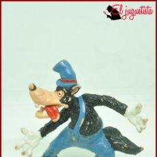 Figuras de Goma y PVC: SANTJUK - DISNEY BULLY - LOBO FEROZ TRES CERDITOS CAPERUCITA. Lote 174484652