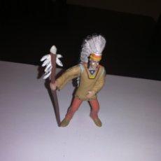 Figuras de Goma y PVC: COMANSI INDIOS Y VAQUEROS JEFE INDIO FIGURA PVC MADE IN SPAIN. Lote 174497747