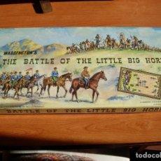 Figuras de Goma y PVC: ANTIGUO CAJA COMPLETA DEL JUEGO * LA BATALLA DE LITTLE BIG HORN* 1ª SERIE ORIGINAL INGLESA .AÑO 1964. Lote 174980497