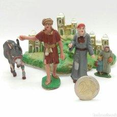 Figuras de Goma y PVC: ESCENA BELÉN PESEBRE SOTORRES NUEVO A ESTRENAR - FIGURAS PINTADAS A MANO. Lote 175072719