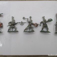 Figuras de Goma y PVC: COLECCION CABALLEROS MEDIEVALES CRUZADOS - ORIGINAL LAFREDO. Lote 175102059