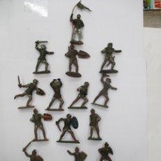 Figuras de Goma y PVC: COLECCION CABALLEROS MEDIEVALES / CRUZADAS / REY ARTURO / ORIGINAL REAMSA. Lote 175103614
