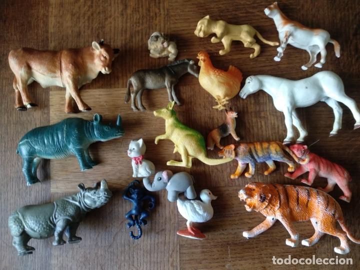 Figuras de Goma y PVC: ANIMALES 80'S - COLECCION LOTE DE 18 FIGURAS DE ANIMALES DE PVC - - Foto 2 - 175285144