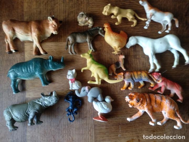 ANIMALES 80'S - COLECCION LOTE DE 18 FIGURAS DE ANIMALES DE PVC - (Juguetes - Figuras de Goma y Pvc - Otras)