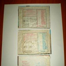 Figuras de Goma y PVC: MONTAPLEX - CURIOSO LOTE DE 3 SOBRES DE TANQUES CON EL DESPIECE IMPRESO EN LA PARTE POSTERIOR. Lote 175318932