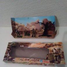 Figuras de Goma y PVC: CAJA CASCOS AZULES - 4 FIGURAS. Lote 175322700