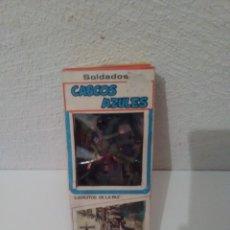 Figuras de Goma y PVC: CAJA CASCOS AZULES - 12 FIGURAS. Lote 175323039