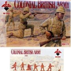 Figuras de Goma y PVC: CAJA SOLDADOS 1/72 RED BOX RB 72003-COLONIAL BRITIHS EJÉRCITO DE 1890 - 48 FIGURAS - 12 POSICIONES. Lote 175329142